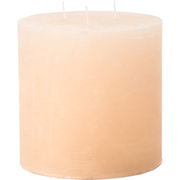 Bougie lanterne coloris beige roucas D15xH15cm-BEJAIA