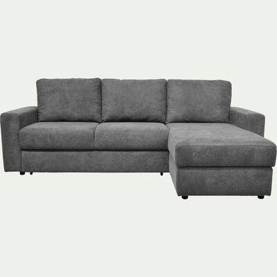 Canapé d'angle réversible 4 places convertible - gris restanque-HONORE