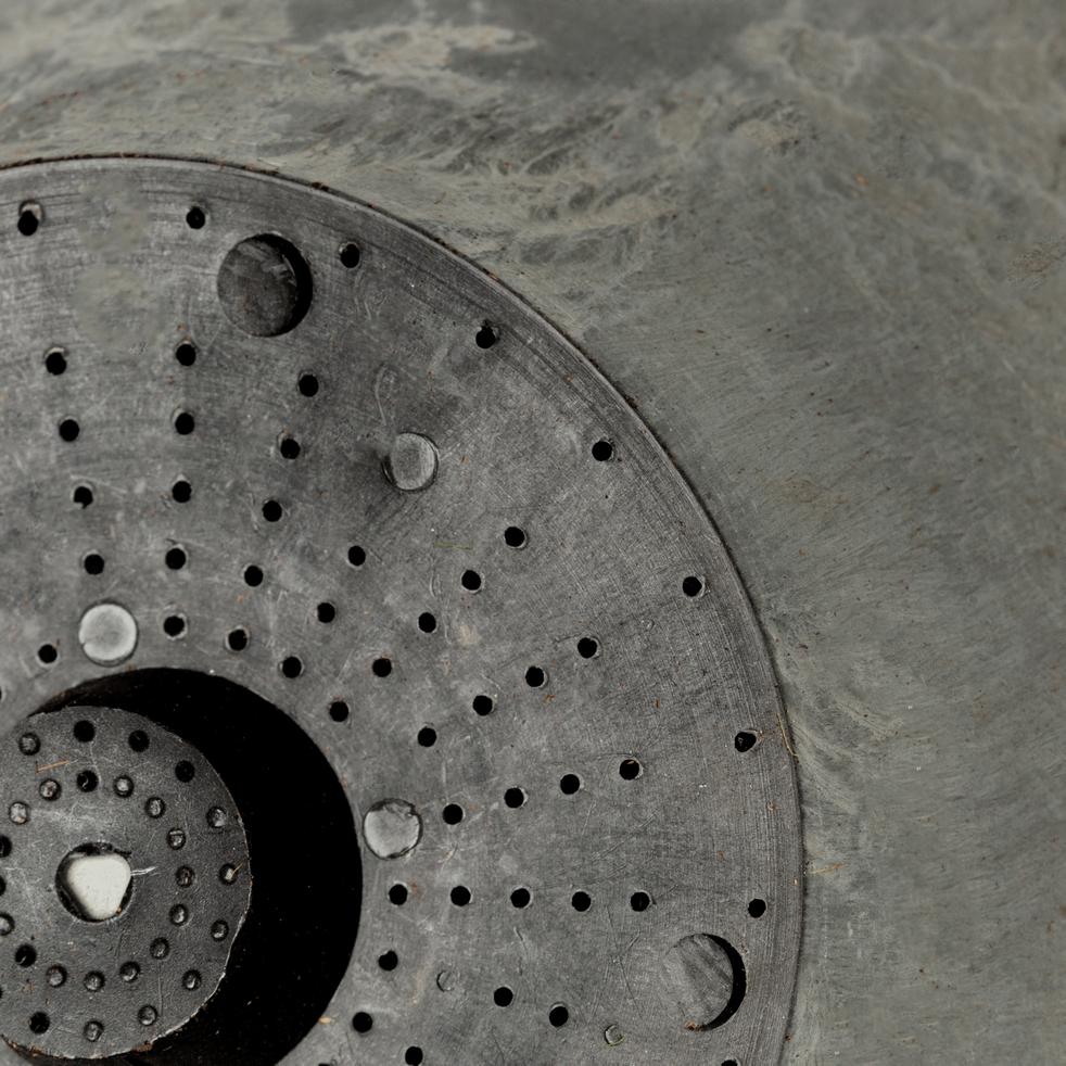 Pot à réserve d'eau en composite gris D17xH15cm-Artstone