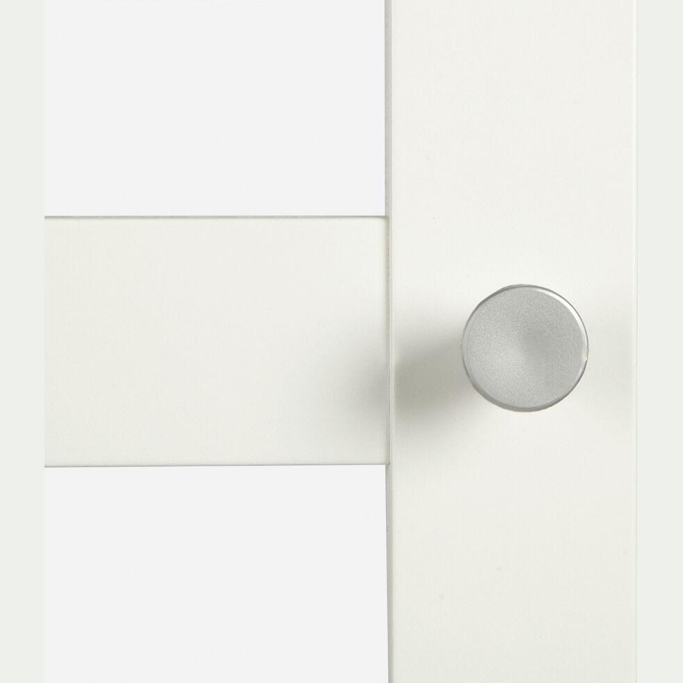 Grande porte vitrée en bois - blanc H191,7cm-BIALA