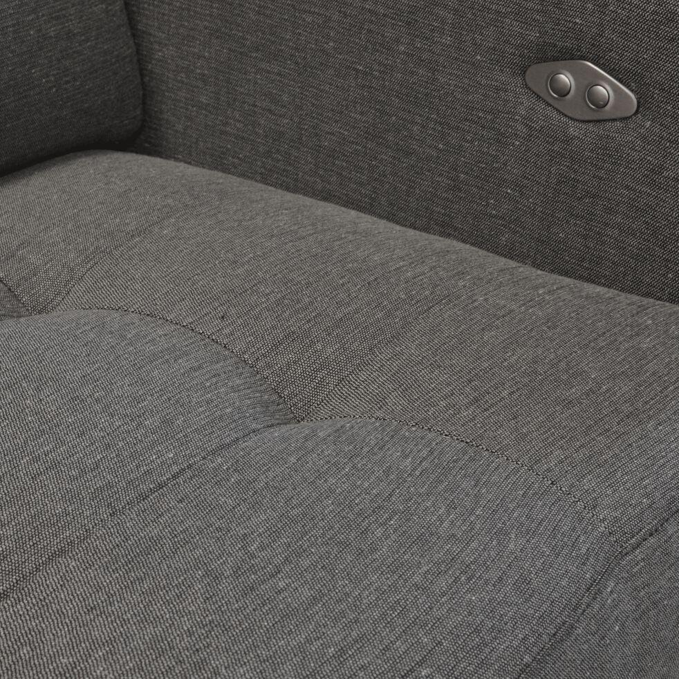 Canapé de relaxation 2 places en tissu accoudoir 15 cm - gris souris-MAURO