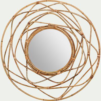 Miroir en kubu - naturel D90cm-LUTEA