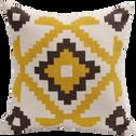 Coussin motifs aztèques jaunes 40x40cm-LIMA