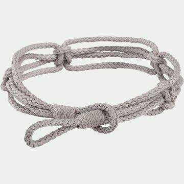 Embrasse cordage en coton - gris-CORDAGE