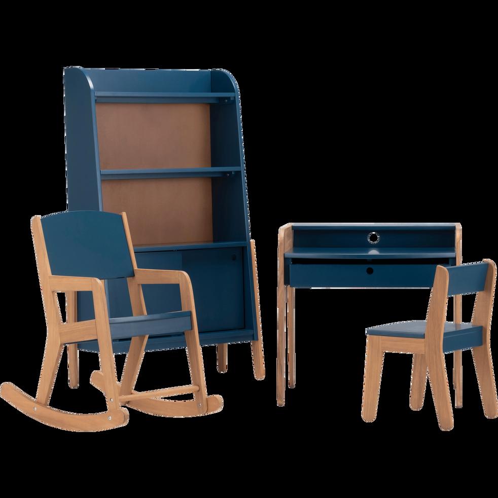 Rocking-chair en acacia pour enfant bleu figuerolles-RAPHAEL