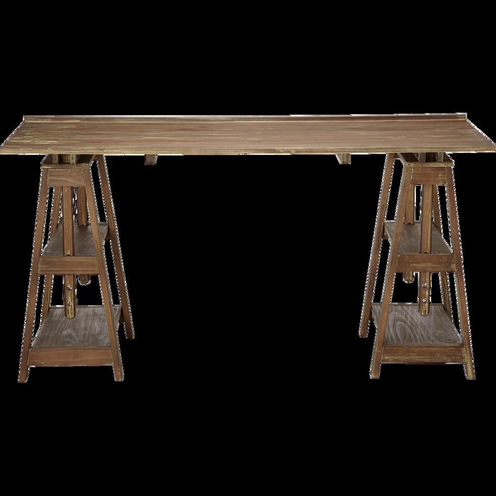 Table D Architecte En Bois bureau d'architecte en pin massif - vito - bureaux - alinea