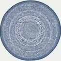 Tapis rond intérieur et extérieure - bleu D160cm-lana