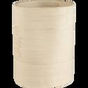 Vase en grès beige H13cm-ADEN