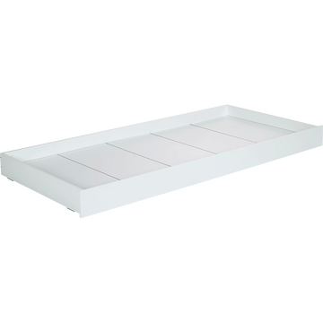 Tiroir de lit à roulettes en bois Blanc-TIPI