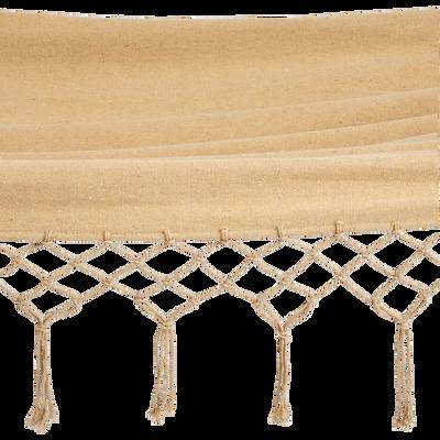 Hamac en coton beige nèfle (1 personne)-CALVI