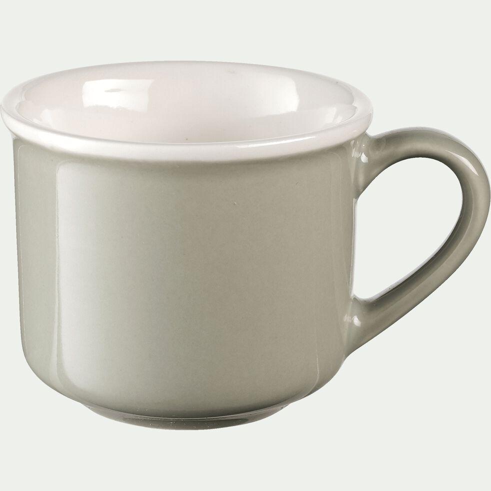 Tasse en porcelaine vert olivier 9cl-CAFI