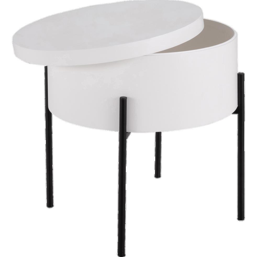 bout de canap blanc avec coffre de rangement doufino catalogue storefront alin a alinea. Black Bedroom Furniture Sets. Home Design Ideas