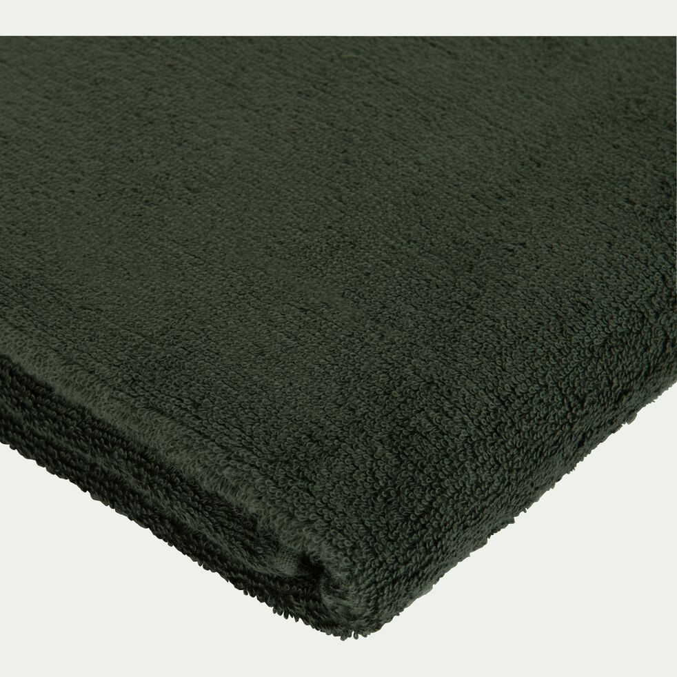 Drap de douche en coton peigné - vert cèdre 70x140cm-AZUR