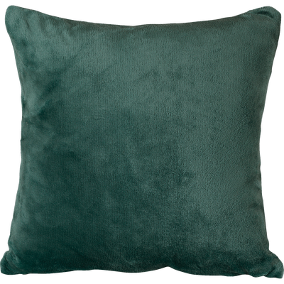 Housse de coussin effet doux vert cèdre 65x65cm-ROBIN