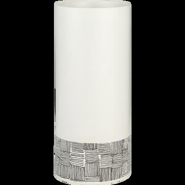 Vase en grès blanc et noir H23cm-Kos