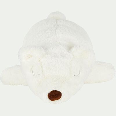 Ours en peluche blanc L50cm-MAZANOU