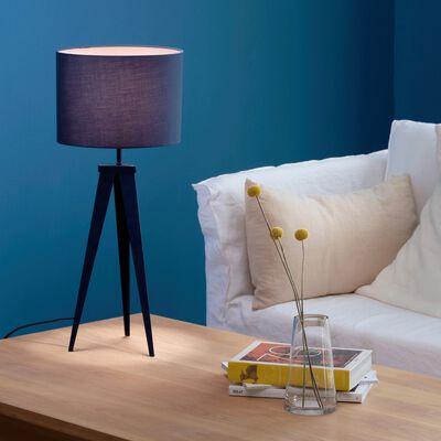 Lampe à poser en métal H63xD35cm - bleu myrte-TRIX