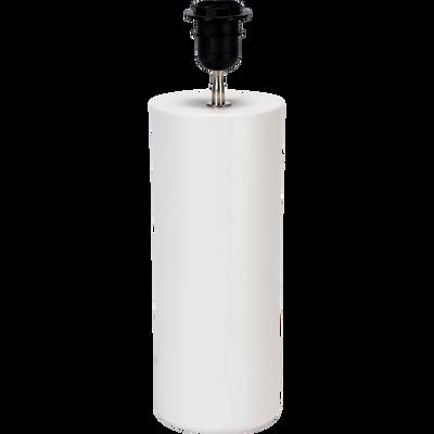 Pied de lampe en céramique blanc H40cm-SYL