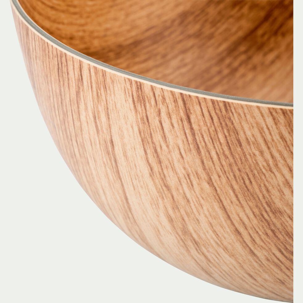 Saladier en plastique aspect bois D24cm-ERI