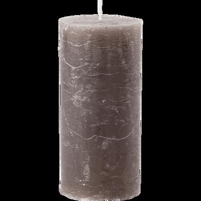 Bougie cylindrique coloris brun châtaigner-BEJAIA