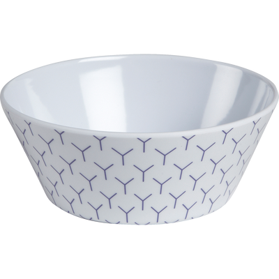 Coupelle forme conique en mélamine décorée D14.5cm-YIN