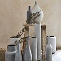 Vase bouteille effet béton H31cm-CALCIS