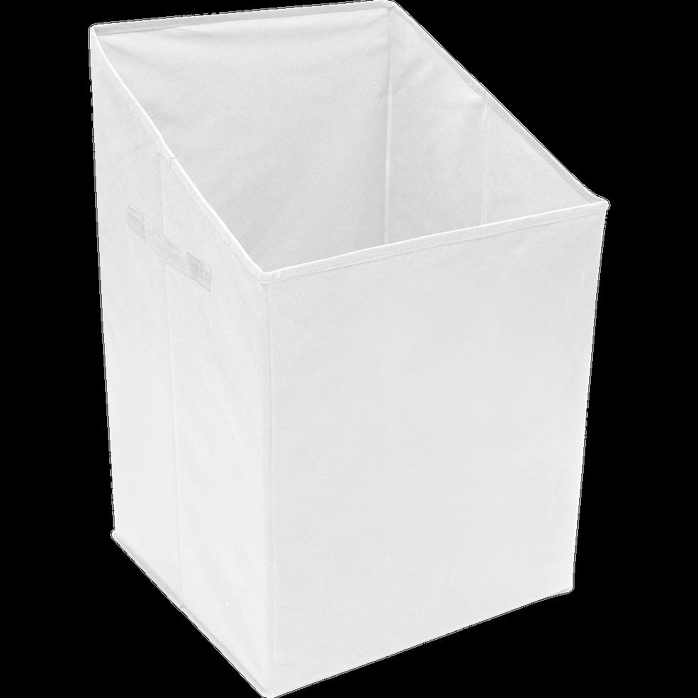 Panier à linge blanc 40x40xh65cm-IVY
