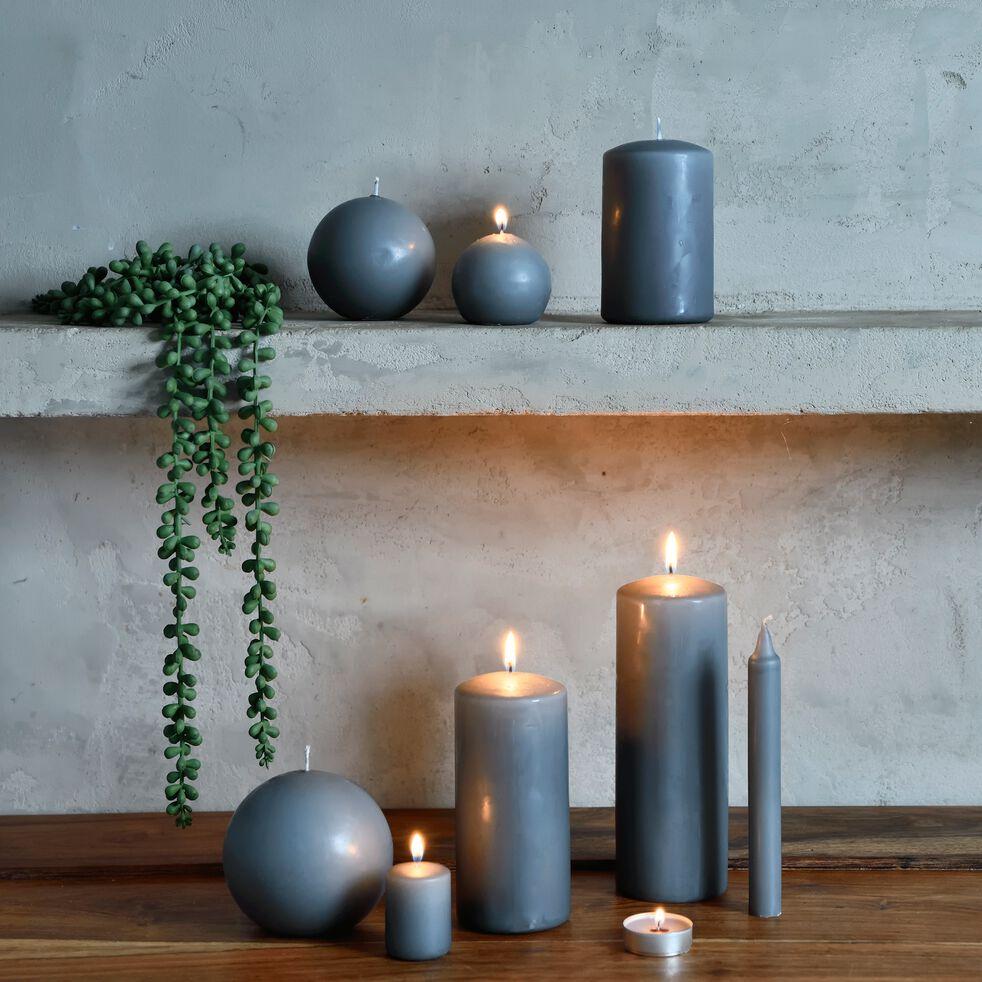 Lot de 4 bougies votives - gris restanque-HALBA