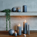 4 bougies votives gris restanque-HALBA