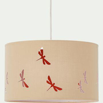 Abat-jour avec découpe motif libellules d35cm - beige esterel-Libellule