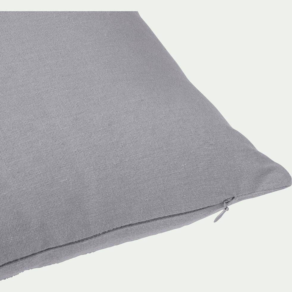 Coussin en coton - gris restanque 40x40cm-CALANQUES
