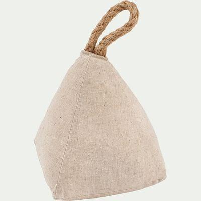 Cale-porte en sable et tissu H22cm-NIN