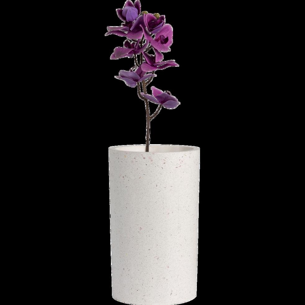 Vase en terrazzo beige H25,5 cm-NETO