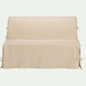 Housse pour BZ en polycoton - beige roucas L140cm-PAULINE