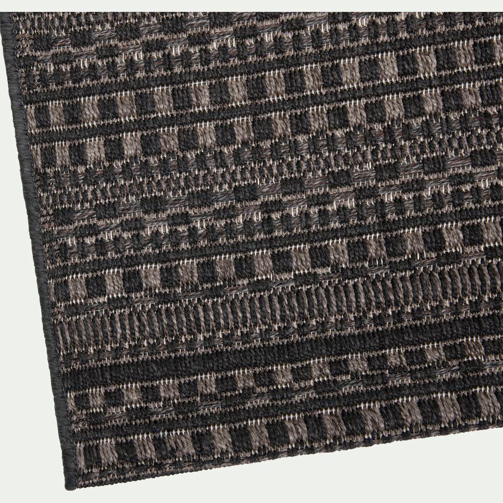 Tapis intérieur et extérieur à motifs - noir 120x170cm-FUVEAU