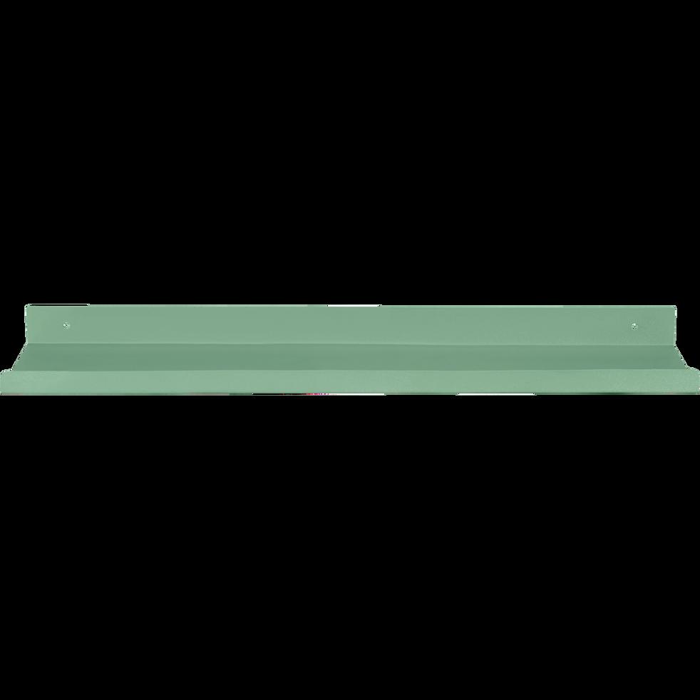 Etagère murale en acier verte L40xl10xH3cm-AGY