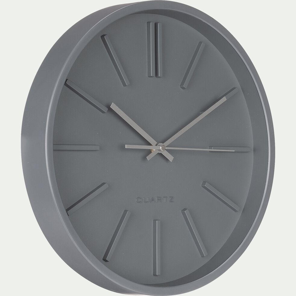 Horloge murale - D35,5x4,8 cm gris-LITTORAL