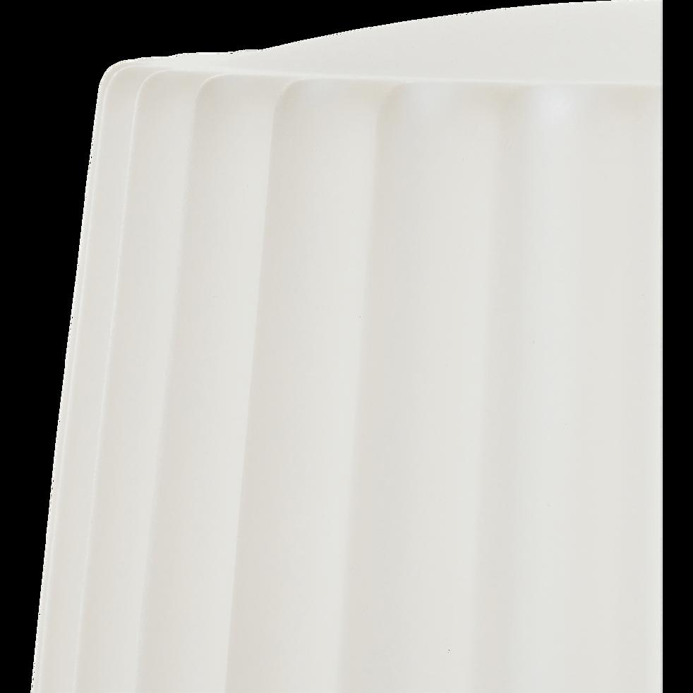 Lampadaire blanc avec abat-jour et pied lumineux H150cm-LADY