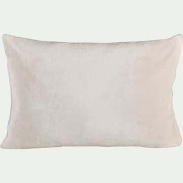 Housse de coussin effet polaire- blanc ventoux 40x60cm-ROBIN
