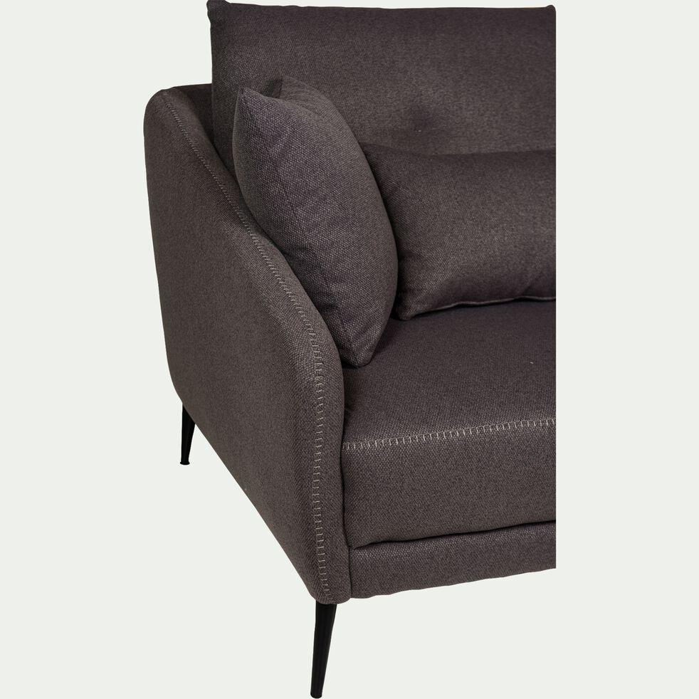 Canapé 2 places fixe en tissu - gris restanque-DOME