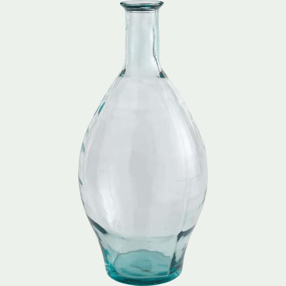 Grand vase en verre transparent h60cm-AJJA