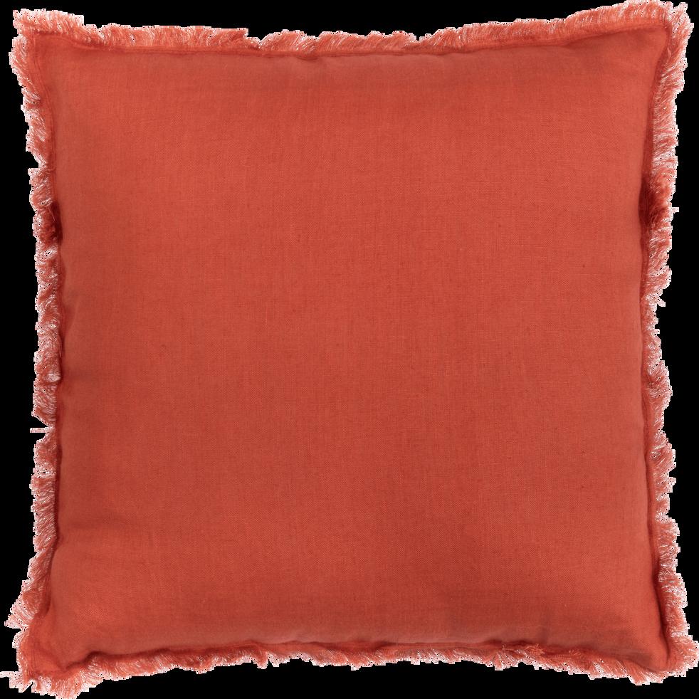 Coussin en lin rouge 40x40cm-VENICE