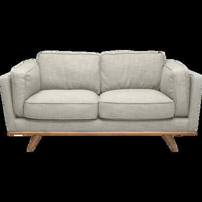 Canapé 2 places fixe en tissu écru-ASTORIA
