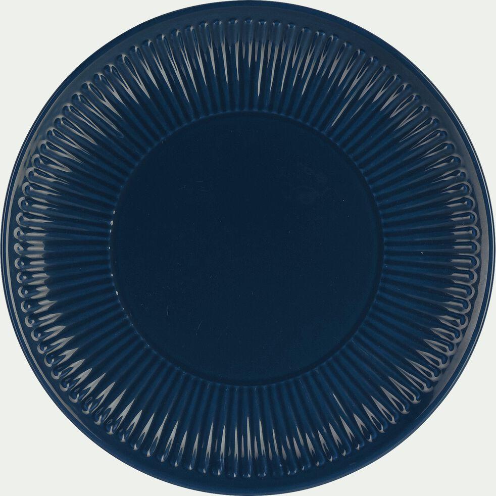 Assiette à dessert en faïence D20,5cm - bleu figuerolles-MORA