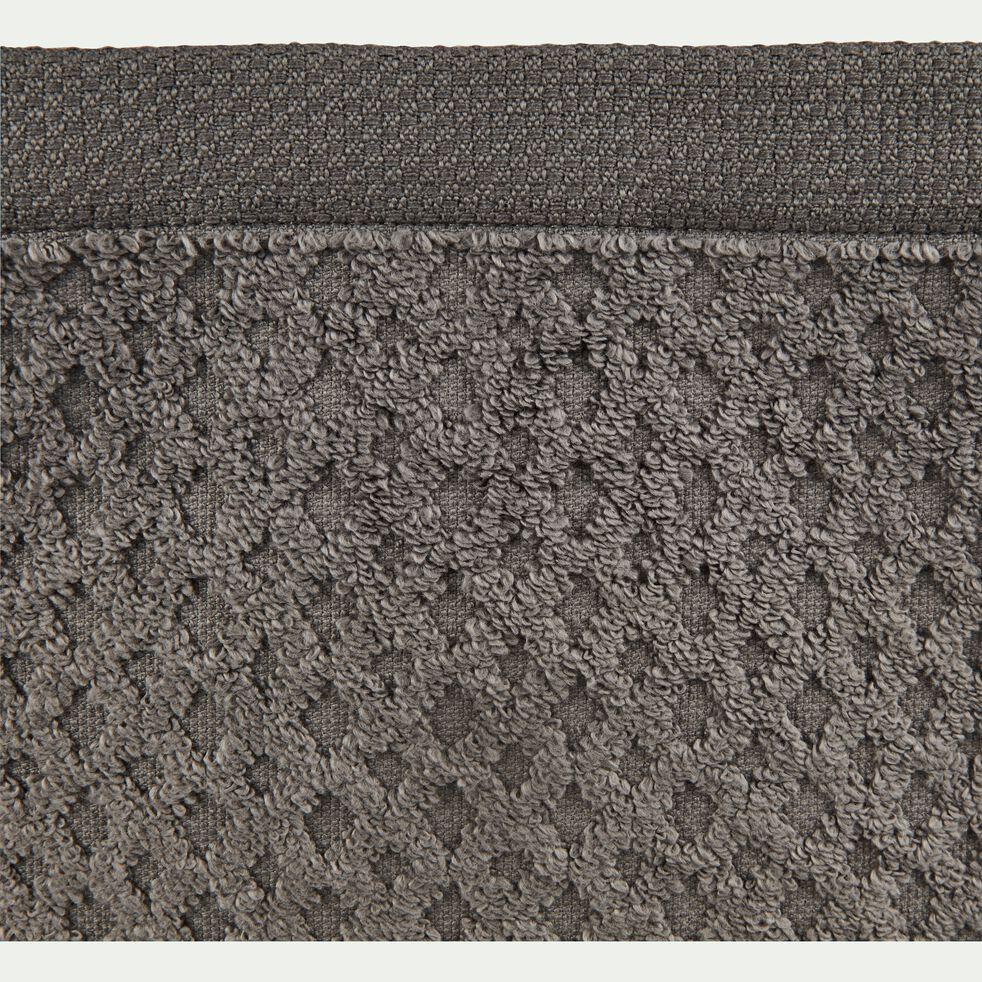 Gant de toilette bouclette en coton - gris restanque-ETEL
