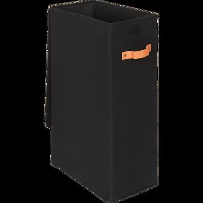 Panier à linge noir H21cm-ERRO