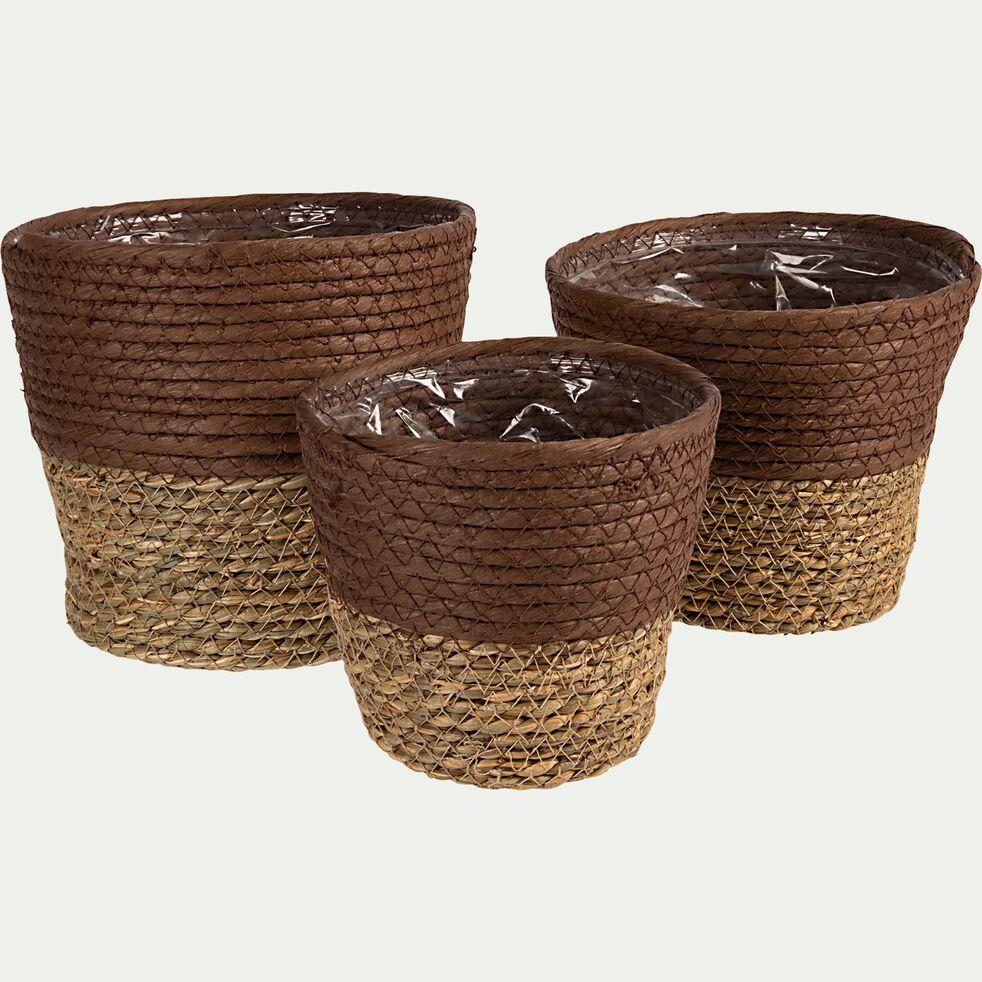 Lot de 3 paniers - naturel-ABIRA