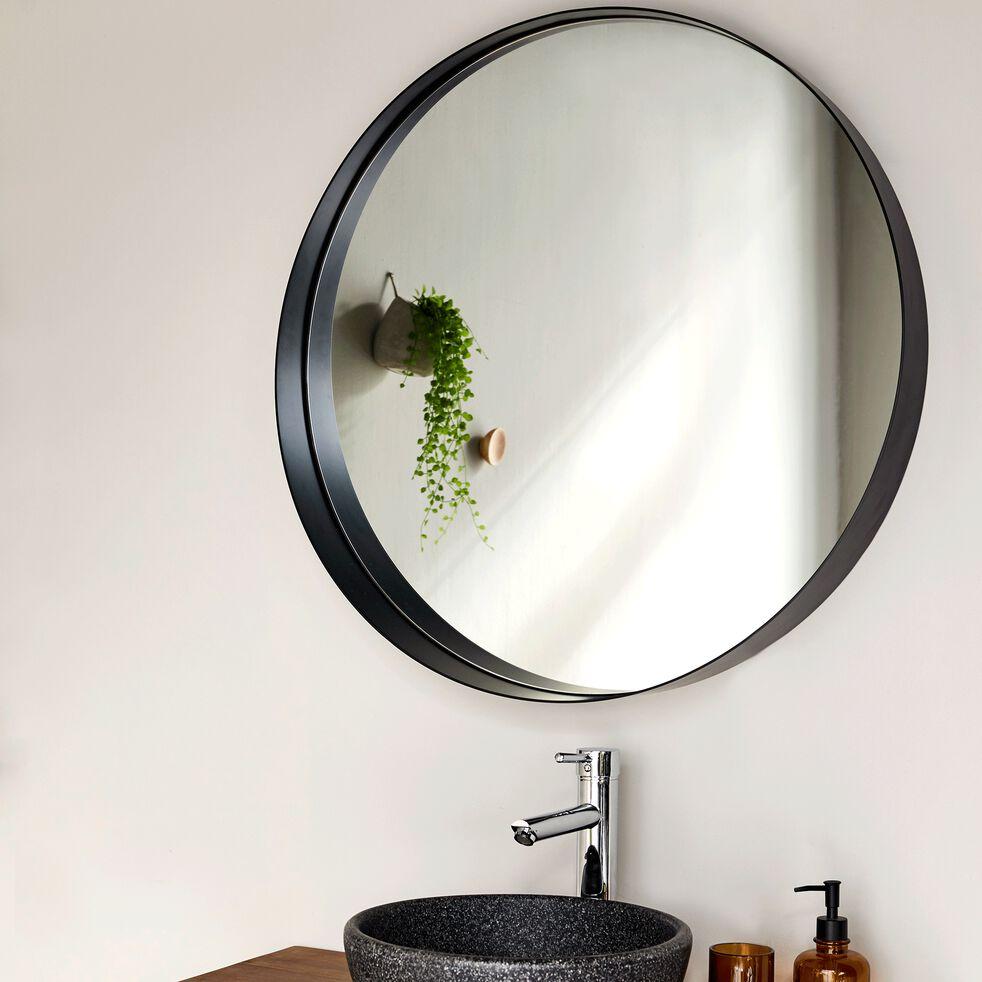 Miroir rond de salle de bains D80cm en métal époxy-KOTA
