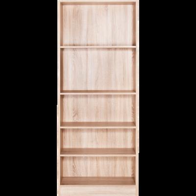 Grande bibliothèque 5 tablettes coloris chêne clair L79cm-BIALA 10d036b8c6c3