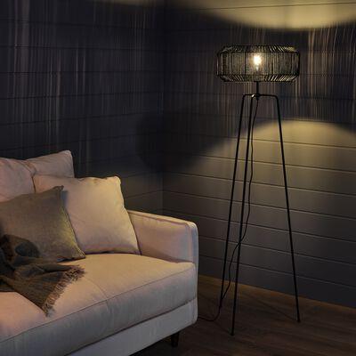 Lampadaire trépied en métal - noir H155cm-CAMPA